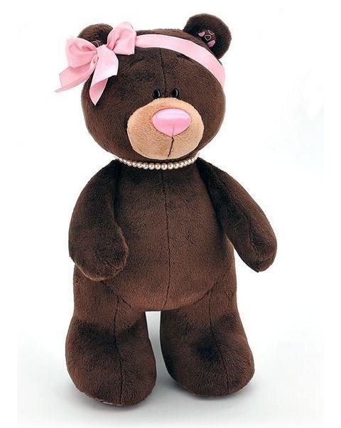 Мягкая игрушка Медведь-девочка Milk, стоячая, 50 см, Orange Toys
