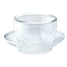 Чашка с блюдцем из двойного боросиликатного стекла Stahlberg
