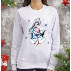 Женский свитшот Гламурная снегурочка