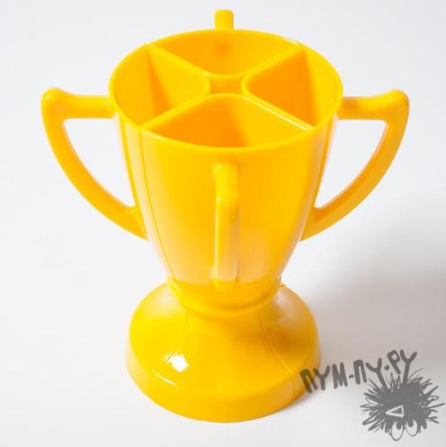 Кубок 4 бокала, желтый