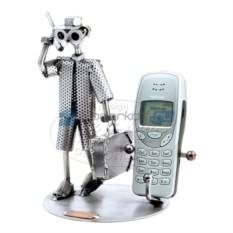 Статуэтка из металла и подставка для телефона Бизнесмен