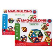 Набор из 28 и 20 деталей конструктора Mag-Building
