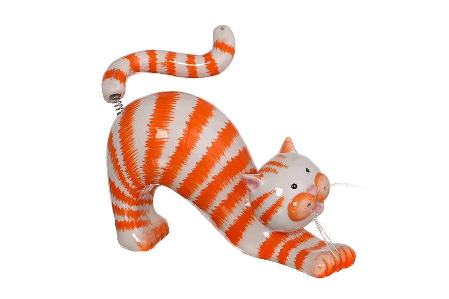 Статуэтка с качающейся головой Рыжая кошка