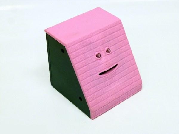 Интерактивная копилка Обжора (кирпич, розовый)