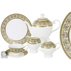 Фарфоровый чайный сервиз из 21 предмета Престиж от Emerald
