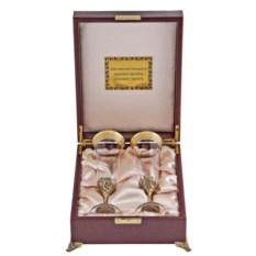 Набор бокалов для шампанского в футляре Богемия