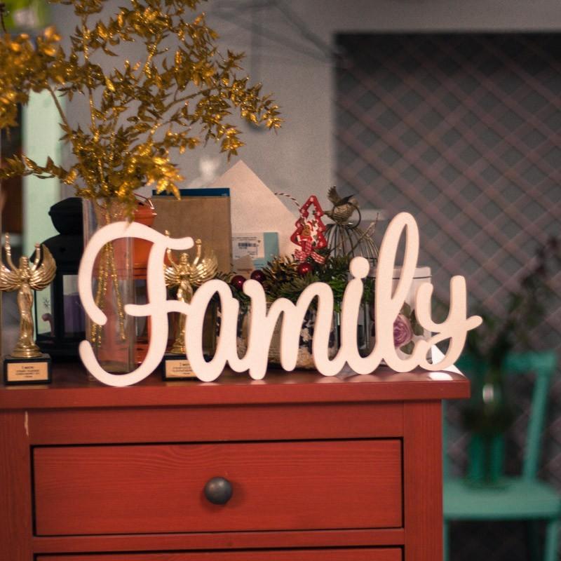 Буквы на свадьбу – слово Family