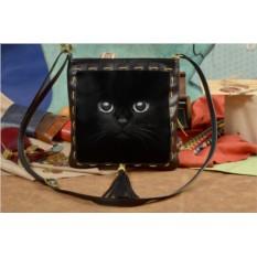 Женская сумка-планшет с принтом Черный кот