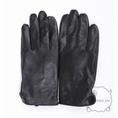 Черные кожанные перчатки для сенсорного экрана Romika