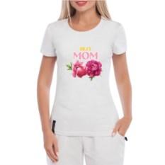 Белая женская футболка Best Mom
