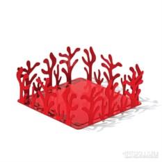 Красный держатель для бумажных салфеток Mediterraneo