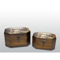 Набор деревянных шкатулок для украшений