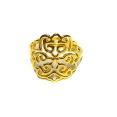 Позолоченное кольцо с орнаментом