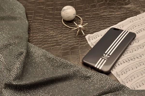 Чехол для iPhone 6 Plus силиконовый TPU (черный, Adidas)