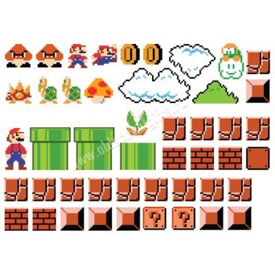Виниловые наклейки на стену Марио 47