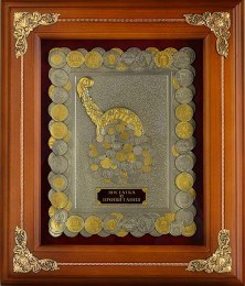 Деревянная ключница Рог изобилия (монеты с золочением)
