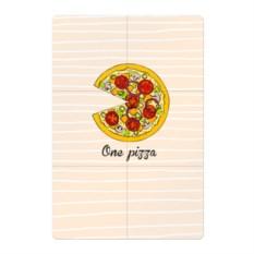 Магнитный плакат One love, One pizza