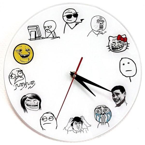 Часы Тролль фейс