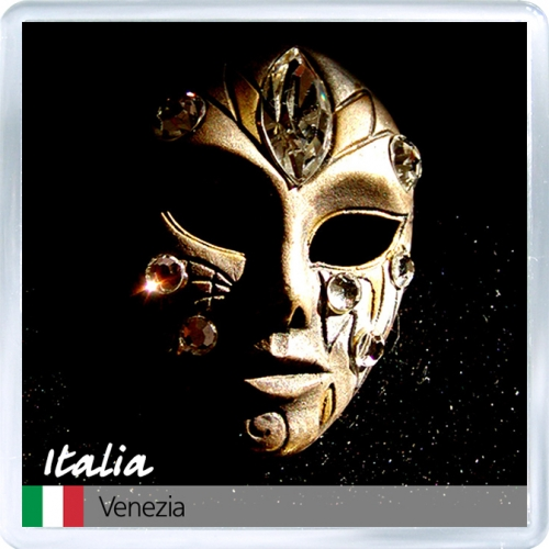 Магнит на холодильник: Италия. Венецианская маска