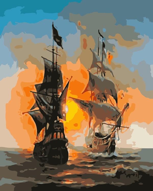 Раскраски по номерам Перед сражением