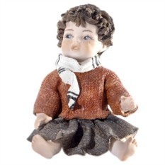Фарфоровая статуэтка Девочка Зима Sibania