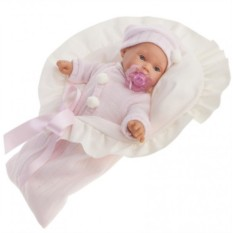 Плачущая кукла-младенец Ланита в розовом