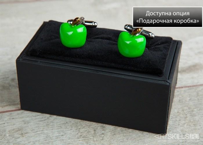 Запонки Сочное яблоко