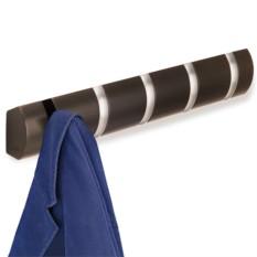 Вешалка настенная горизонтальная Flip 5 крючков, эспрессо