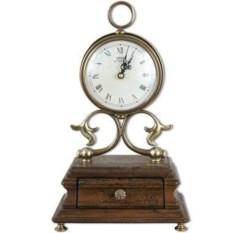 Настольные часы на подставке с ящичком