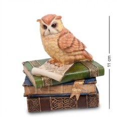 Шкатулка Сова на книгах