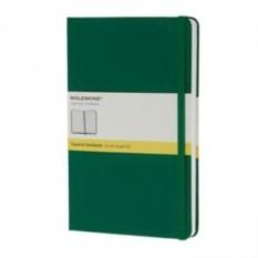 Зеленая записная книжка в клетку Moleskine Classic