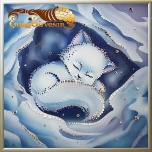 Картина Swarovski Снежок