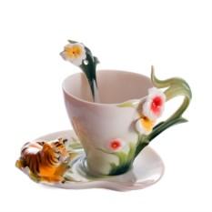 Подарочный чайный набор на 1 персону Тигровый цвет
