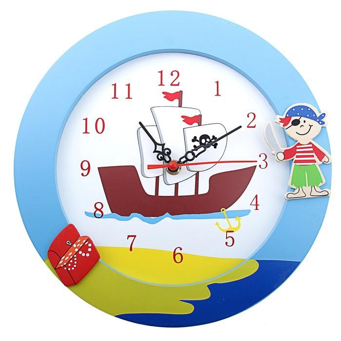 Детские настенные часы Пиратский кораблик