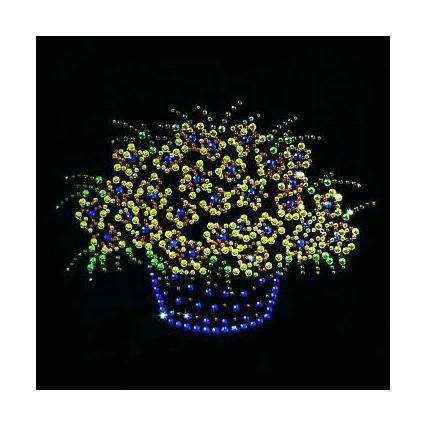 Картина из кристаллов «Корзина с цветами»