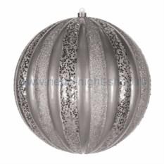 Елочная игрушка Арбуз серебряного цвета