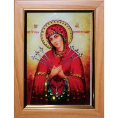 Икона Божией Матери Семистрельная Swarovski