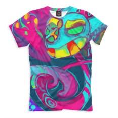 Цветная мужская футболка Психоделика