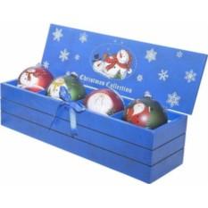 Набор елочных шаров в деревянной коробке Mister Christmas