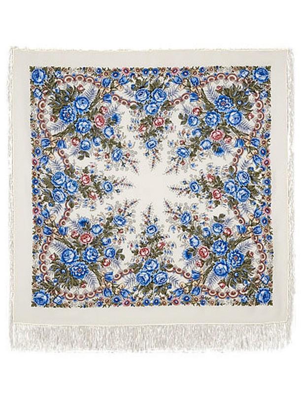 Павлопосадский шерстяной платок Весеннее утро