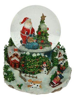 Музыкальный водяной шар Новогодняя сказка, с подсветкой, елка