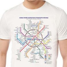 Футболка Карта метро