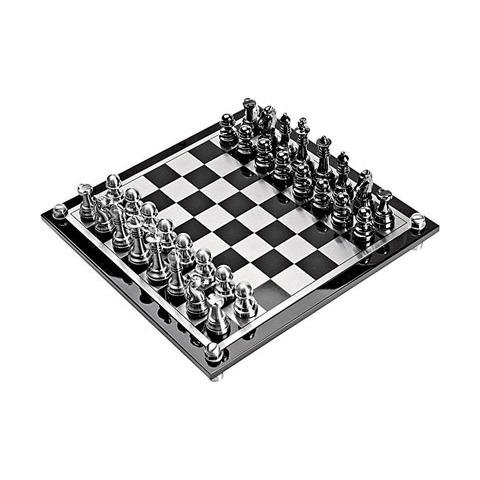Шахматы в чёрной подарочной коробке
