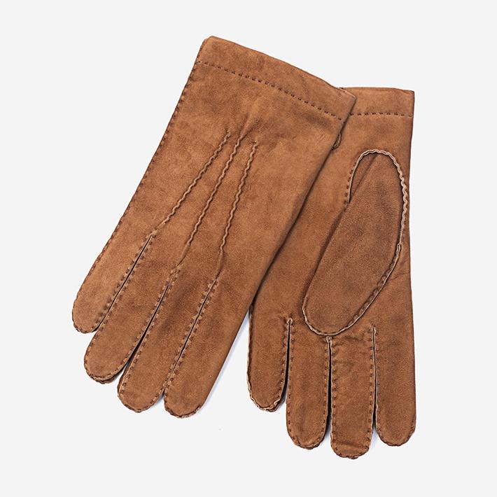 Светло-коричневые замшевые перчатки Merola