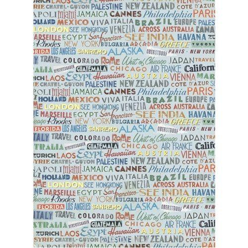 Рисовая бумага для декупажа Города и страны, 28,2 см х 38,4 см