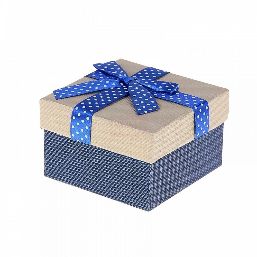 Подарочная коробка Бантик в горошек