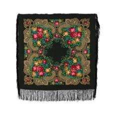 Павлопосадский платок с рисунком Незнакомка