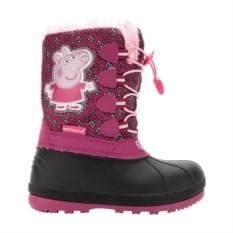 Розовые сноубутсы на шнуровке Peppa Pig