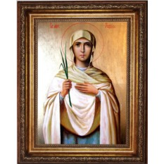 Икона на холсте Лидия Иллирийская. Святая мученица
