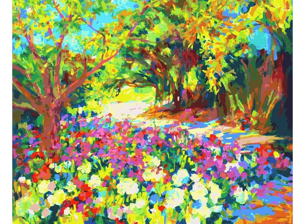 Картины по номерам «Розы. Южная терраса дворца»